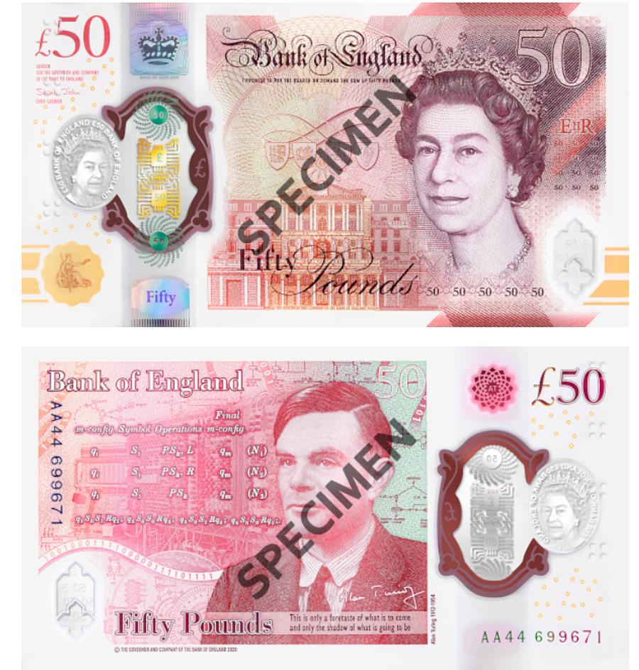 The English £ 50 (Bank of England (- Source: IBNS