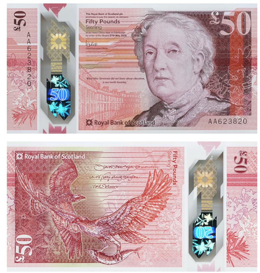 Az angol (Bank of England) 50 fontos - Forrás: IBNS