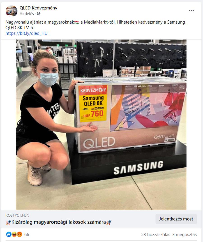 A csaló Facebook-hirdetés