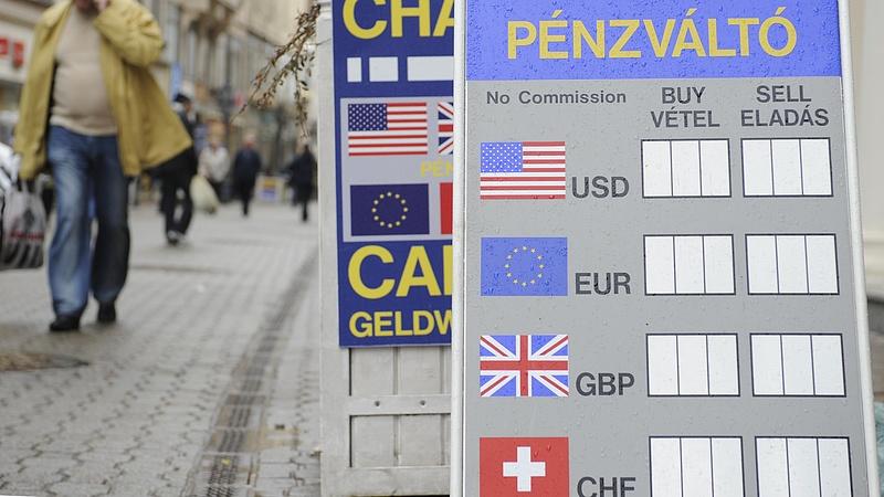 306 forint alatt az euró jegyzése