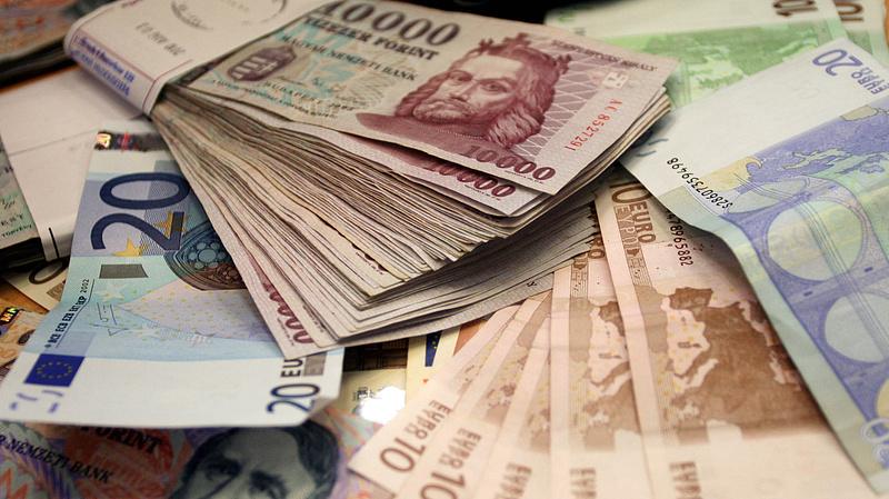 Erősödött a forint az euróhoz képest