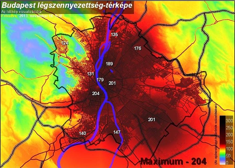 légszennyezettség budapest térkép Ne vegyen levegőt Budapesten! Mutatjuk a legdurvább helyeket   Napi.hu légszennyezettség budapest térkép